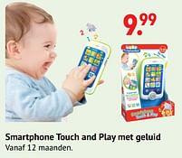 Aanbiedingen Smartphone touch and play met geluid - Clementoni - Geldig van 11/10/2021 tot 06/12/2021 bij Multi Bazar