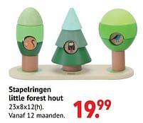 Aanbiedingen Stapelringen little forest hout - Classic World - Geldig van 11/10/2021 tot 06/12/2021 bij Multi Bazar