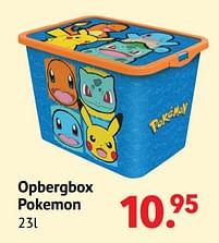Aanbiedingen Opbergbox pokemon - Pokemon - Geldig van 11/10/2021 tot 06/12/2021 bij Multi Bazar