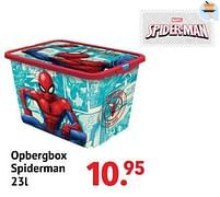 Aanbiedingen Opbergbox spiderman - Spider-man - Geldig van 11/10/2021 tot 06/12/2021 bij Multi Bazar