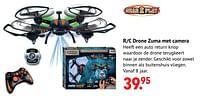 Aanbiedingen R-c drone zuma met camera - Gear2Play - Geldig van 11/10/2021 tot 06/12/2021 bij Multi Bazar