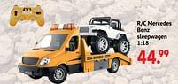 Aanbiedingen R-c mercedes benz sleepwagen - Huismerk - Multi Bazar - Geldig van 11/10/2021 tot 06/12/2021 bij Multi Bazar