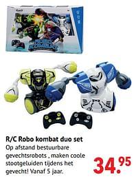 Aanbiedingen R-c robo kombat duo set - Silverlit - Geldig van 11/10/2021 tot 06/12/2021 bij Multi Bazar