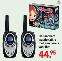 Aanbiedingen Herlaadbare walkie talkie met een bereik van 4km - Buki France - Geldig van 11/10/2021 tot 06/12/2021 bij Multi Bazar