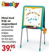 Aanbiedingen Metal bord krijt- en magneetbord - Smoby - Geldig van 11/10/2021 tot 06/12/2021 bij Multi Bazar