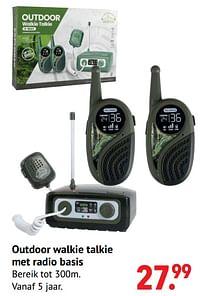 Aanbiedingen Outdoor walkie talkie met radio basis - Huismerk - Multi Bazar - Geldig van 11/10/2021 tot 06/12/2021 bij Multi Bazar