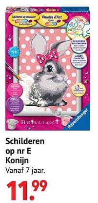 Aanbiedingen Schilderen op nr e konijn - Ravensburger - Geldig van 11/10/2021 tot 06/12/2021 bij Multi Bazar