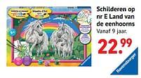 Aanbiedingen Schilderen op nr e land van de eenhoorns - Ravensburger - Geldig van 11/10/2021 tot 06/12/2021 bij Multi Bazar