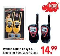 Aanbiedingen Walkie talkie easy call - Dickie - Geldig van 11/10/2021 tot 06/12/2021 bij Multi Bazar