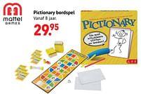 Aanbiedingen Pictionary bordspel - Mattel - Geldig van 11/10/2021 tot 06/12/2021 bij Multi Bazar