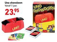Aanbiedingen Uno showdown - Mattel - Geldig van 11/10/2021 tot 06/12/2021 bij Multi Bazar