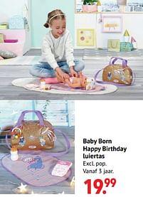 Aanbiedingen Baby born happy birthday luiertas - Baby Born - Geldig van 11/10/2021 tot 06/12/2021 bij Multi Bazar