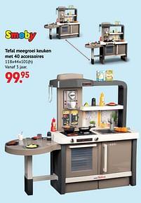 Aanbiedingen Tefal meegroei keuken met 40 accessoires - Smoby - Geldig van 11/10/2021 tot 06/12/2021 bij Multi Bazar