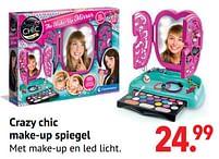 Aanbiedingen Crazy chic make-up spiegel - Clementoni - Geldig van 11/10/2021 tot 06/12/2021 bij Multi Bazar