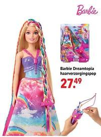 Aanbiedingen Barbie dreamtopia haarverzorgingspop - Mattel - Geldig van 11/10/2021 tot 06/12/2021 bij Multi Bazar