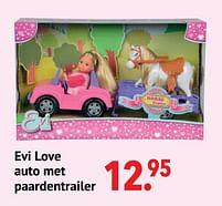 Aanbiedingen Evi love auto met paardentrailer - Evi love - Geldig van 11/10/2021 tot 06/12/2021 bij Multi Bazar