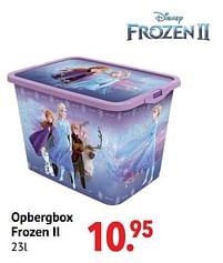 Aanbiedingen Opbergbox frozen ii - Disney  Frozen - Geldig van 11/10/2021 tot 06/12/2021 bij Multi Bazar
