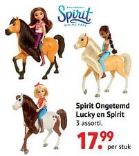 Aanbiedingen Spirit ongetemd lucky en spirit - Mattel - Geldig van 11/10/2021 tot 06/12/2021 bij Multi Bazar