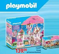 Aanbiedingen 70447 groot prinsessenkasteel - Playmobil - Geldig van 11/10/2021 tot 06/12/2021 bij Multi Bazar