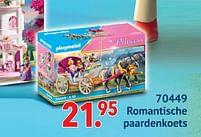 Aanbiedingen 70449 romantische paardenkoets - Playmobil - Geldig van 11/10/2021 tot 06/12/2021 bij Multi Bazar