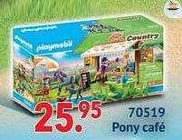 Aanbiedingen 70519 pony café - Playmobil - Geldig van 11/10/2021 tot 06/12/2021 bij Multi Bazar
