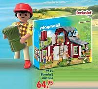 Aanbiedingen 9315 boerderij met silo - Playmobil - Geldig van 11/10/2021 tot 06/12/2021 bij Multi Bazar