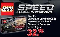 Aanbiedingen 76903 chevrolet corvette c8.r racewagen en 1969 chevrolet corvette - Lego - Geldig van 11/10/2021 tot 06/12/2021 bij Multi Bazar