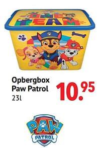 Aanbiedingen Opbergbox paw patrol - PAW  PATROL - Geldig van 11/10/2021 tot 06/12/2021 bij Multi Bazar