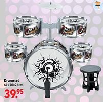 Aanbiedingen Drumstel - Huismerk - Multi Bazar - Geldig van 11/10/2021 tot 06/12/2021 bij Multi Bazar