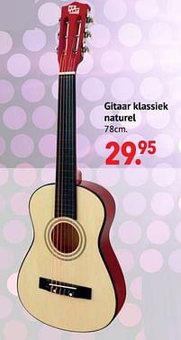 Aanbiedingen Gitaar klassiek naturel - Huismerk - Multi Bazar - Geldig van 11/10/2021 tot 06/12/2021 bij Multi Bazar