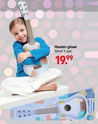 Aanbiedingen Houten gitaar - Huismerk - Multi Bazar - Geldig van 11/10/2021 tot 06/12/2021 bij Multi Bazar