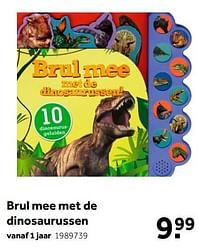Aanbiedingen Brul mee met de dinosaurussen - Huismerk - Intertoys - Geldig van 02/10/2021 tot 05/12/2021 bij Intertoys