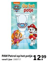 Aanbiedingen Paw patrol op het potje - Nickelodeon - Geldig van 02/10/2021 tot 05/12/2021 bij Intertoys