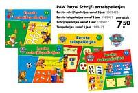 Aanbiedingen Paw patrol schrijf- en telspelletjes eerste schrijfspelletjes - Huismerk - Intertoys - Geldig van 02/10/2021 tot 05/12/2021 bij Intertoys