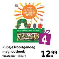 Aanbiedingen Rupsje nooitgenoeg magneetboek - Huismerk - Intertoys - Geldig van 02/10/2021 tot 05/12/2021 bij Intertoys