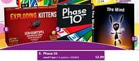 Aanbiedingen Phase 10 - Mattel - Geldig van 02/10/2021 tot 05/12/2021 bij Intertoys