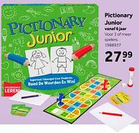 Aanbiedingen Pictionary junior - Mattel - Geldig van 02/10/2021 tot 05/12/2021 bij Intertoys