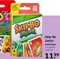 Aanbiedingen Skip-bo junior - Mattel - Geldig van 02/10/2021 tot 05/12/2021 bij Intertoys