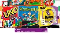 Aanbiedingen Uno - Mattel - Geldig van 02/10/2021 tot 05/12/2021 bij Intertoys