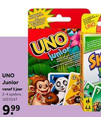 Aanbiedingen Uno junior - Mattel - Geldig van 02/10/2021 tot 05/12/2021 bij Intertoys