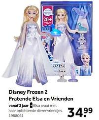 Aanbiedingen Disney frozen 2 pratende elsa en vrienden - Disney  Frozen - Geldig van 02/10/2021 tot 05/12/2021 bij Intertoys