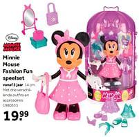 Aanbiedingen Minnie mouse fashion fun speelset - Disney - Geldig van 02/10/2021 tot 05/12/2021 bij Intertoys