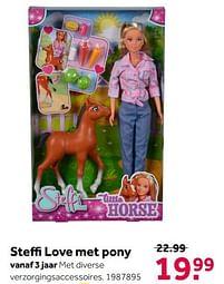 Aanbiedingen Steffi love met pony - Steffi Love - Geldig van 02/10/2021 tot 05/12/2021 bij Intertoys