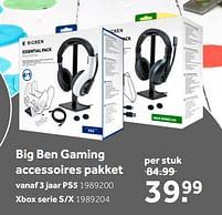 Aanbiedingen Big ben gaming accessoires pakket ps5 - BIGben - Geldig van 02/10/2021 tot 05/12/2021 bij Intertoys
