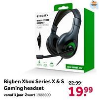 Aanbiedingen Bigben xbox series x + s gaming headset - BIGben - Geldig van 02/10/2021 tot 05/12/2021 bij Intertoys