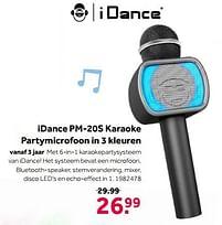Aanbiedingen Idance pm-20s karaoke partymicrofoon in 3 kleuren - I Dance - Geldig van 02/10/2021 tot 05/12/2021 bij Intertoys