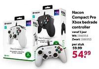 Aanbiedingen Nacon compact pro xbox bedrade controller - Nacon - Geldig van 02/10/2021 tot 05/12/2021 bij Intertoys