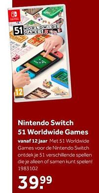 Aanbiedingen Nintendo switch 51 worldwide games - Nintendo - Geldig van 02/10/2021 tot 05/12/2021 bij Intertoys