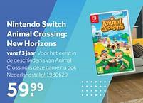 Aanbiedingen Nintendo switch animal crossing new horizons - Nintendo - Geldig van 02/10/2021 tot 05/12/2021 bij Intertoys