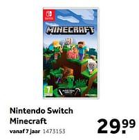 Aanbiedingen Nintendo switch minecraft - Mojang - Geldig van 02/10/2021 tot 05/12/2021 bij Intertoys